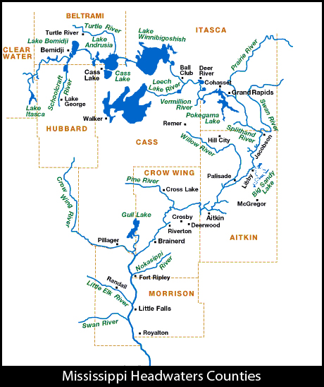 Lake Itasca Map